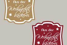 Weihnachten Printables / weihnachtliche Labels zum Drucken