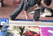 TALLER ARTE.K- Villa de Leyva / Presentacion de trabajos de Pintura y escultura realizados por el Artista Plástico Rafael Cárdenas Lozano