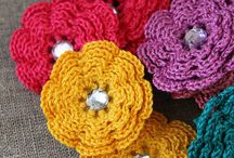 Crocheted Flowers  / by SueStitches