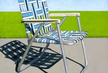 CHAIRS, in Paintings / artists painting of chairs / by Jackie McIntyre