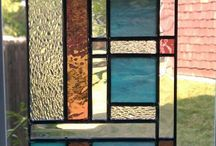 Stained glass geometric & abstract