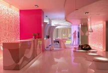 Futuristische Haus gemacht von Corian und entworfen von Karim Rashid