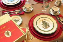 spode christmas tree tablescapes