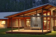 Custom Contemporary Homes / These are all custom contemporary homes designed by Haven Design Workshop and located in the beautiful North West Washington area.