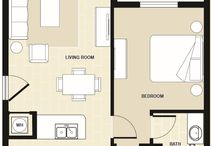 One Bedroom Apartment in Miami, FL / Floorplan