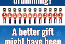 12 drummers drumming??? / A better gift might have been 12 of THESE!