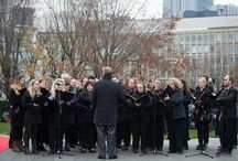 Queen's Park Remembrance Day Ceremony 2015 / The Elora Festival Singers at the Remembrance Day Ceremony on November 11th, 2015 in Queen's Park, Toronto.