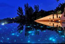 Bazén v noci ...aaaah