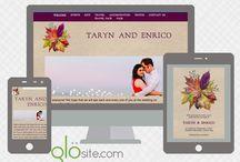 Email Wedding Invitations + Wedding Websites from Glosite / The latest email wedding invitation and wedding website designs from Glosite