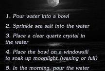 Moon water cleansing
