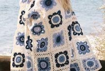 Crochet blue white