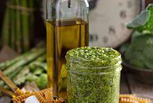 Huiles aromatisées, pesto, herbes aromatiques....