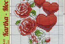 wzory -haft krzyżykowy