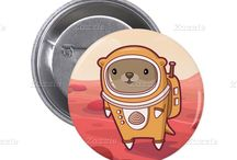 Accessories / Totes, bags, buttons and accessories by Otter on Mars
