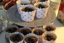 Brunch & frokost / Græsk yoghurt m. Chrunch , blåbær og sirup