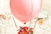 Centrotavola fiori e palloncini