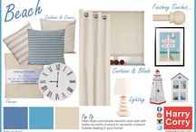 Bring The Sea Side Home / Fresh blues and simple neutrals work well with quirky accents of wood to recreate a beach holiday feeling in your home!