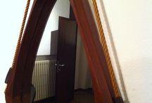 MIRRORS Italian Teak Mirror by Franco Campo and Carlo Graffi for Home / Italian Teak Mirror  by Franco Campo and Carlo Graffi for Home