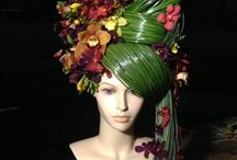 Lady Sneerwell / Experimental costume: Wigs, nature, hair pieces, Chelsea flower Show, moss, grass, earthy, francoise weeks