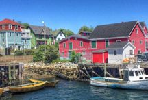 Nova Scotia. Lunenburg, Mahone Bay, blue rocks, stonehurst