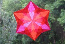 Transparent paper stars
