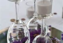 wedding idea purp & sil