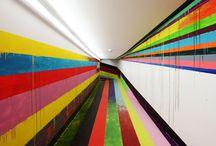 Line murals