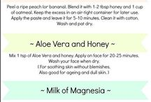Love your skin / Healthy skin ideas