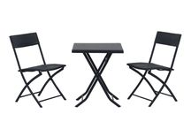 Set Furniture Bistro Garden Outdoor 3 Piece Wicker Metal Table Chairs Patio Desk
