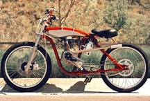 Motorized bicycles & Vintage motorcycles / by Tom