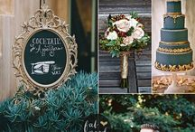 Wedding Theme Peacock / When you think of the elegant, stately Peacock you think of the colours deep turquoise, teal, electric blue, deep purple, indigo, coppery gold and a gorgeous emerald green. As a wedding theme it's become popular and contemporary with all the jewel-like, intense, gorgeous colours. It's a super theme if you want to add flashes of accent colours like plum, aubergine, orange, magenta and particularly hot pink to your wedding styling or flower arrangements.