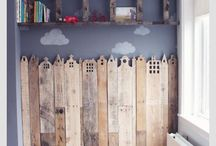 Hout behang kinderkamer