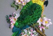 вышитые птицы