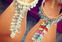 color sandal