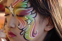 Cleo the Clown's Face paint ideas