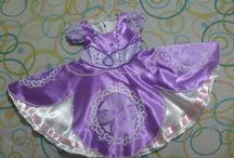Vestido Princesa Sofia / visite minha pagina, sob encomenda https://www.facebook.com/elizete.santos.3910