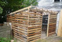 garden - pallet roof