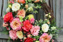 Cottage Rose Garden Wreaths, by www.IrishGirlsWreaths.com