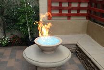 Flagstone | Fireplaces | Hardscapes | Makeovers / Residential makeovers that involved, 'hardscapes' (i.e. pavers, raised planter beds, built in barbecues', fountains, fire pits, and more)!
