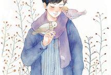 Anime, manga, art work