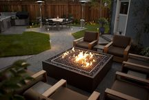 Outdoor Living Areas / We love entertaining!  The warmth of great fire pits and outdoor living areas bring friends and family together, increase home's value and they are a great drought-tolerant gardening solution.