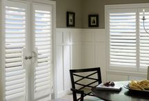 Shutter Ideas For Your Home / Shutters, also referred to as Plantation Shutters are our number #1 selling window treatment for homes on the main line.   Shutters add elegance, privacy and warmth to any home - modern, traditional, historic.  Shutters come in an array of styles, colors, finishes, materials and a wide range of prices for any customers.   Shutters offer many benefits.  Most importantly they add elegance and resale value to your home.  Shutters also offer superior light control and insulation properties.