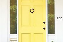 Front entrances / love colorful doors-this is one shade darker than the door at HEA!