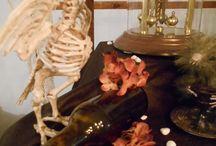 Table D'halloween,  tête à tête macabre / une table à la fois macabre et romantique pour une soirée à deux. Retrouvez cette table et son histoire ici: http:// www.fetu -de-paillées-grain-de-folie. net