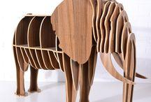 Wooden Ship / Elephant