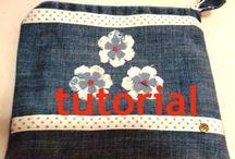 tutorial pochette con fodera e zip