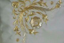 золотые вышивки