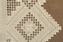 Hardanger embroidery / Examples of Norwegian Hardanger cut-work embroidery