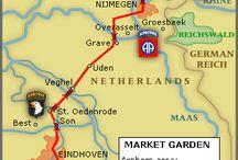 """WW2 - OPERATIONS - MARKET GARDEN / Operacja """"Market Garden""""– największaoperacjaz udziałemwojsk powietrznodesantowychprzeprowadzona przezaliantówwe wrześniu 1944 roku na terytorium okupowanejHolandii."""