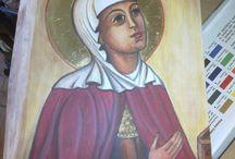 ikona/ Maria Magdalena/ akryle